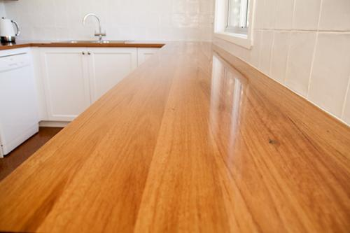 timber benchtop